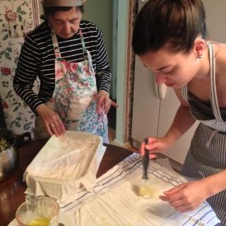 Making Spanakopita