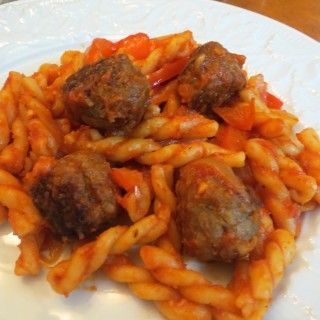 Italian Sausage Meatballs, Peppers, and Onions