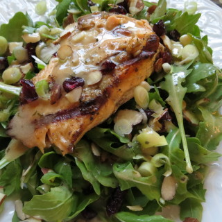 Fall Salad with Grilled Salmon