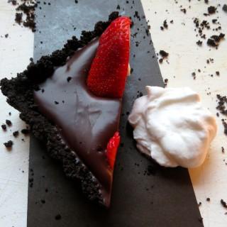 Chocolate Ganache Tart with Strawberries