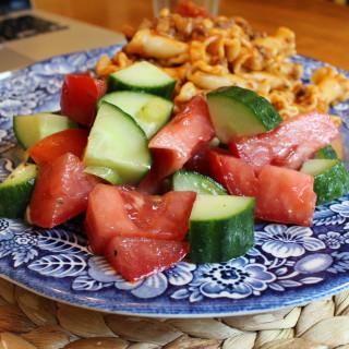 Quick Marinated Tomato-Cucumber Salad