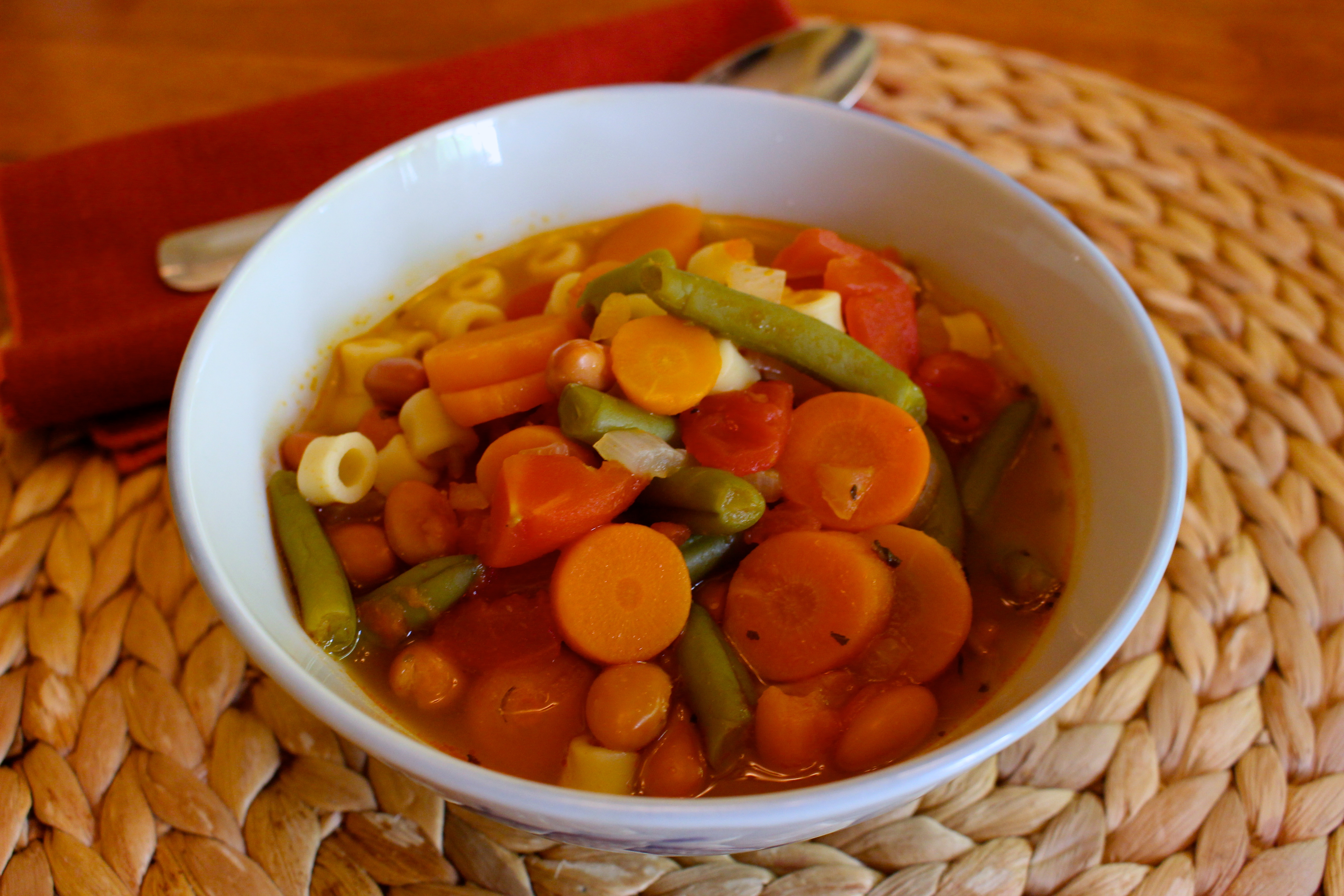 ... Action Month Recipe: Vegetable Soup with Pasta - Simply A (RD) Foodie