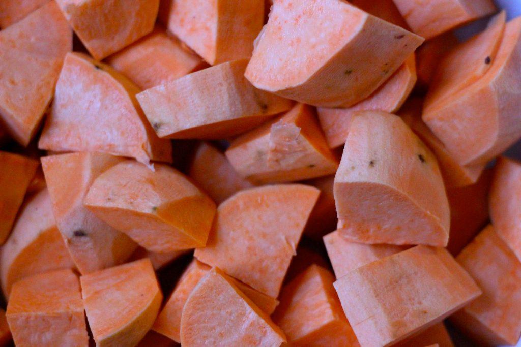 Craisin Sweet Potatoes - raw potatoes