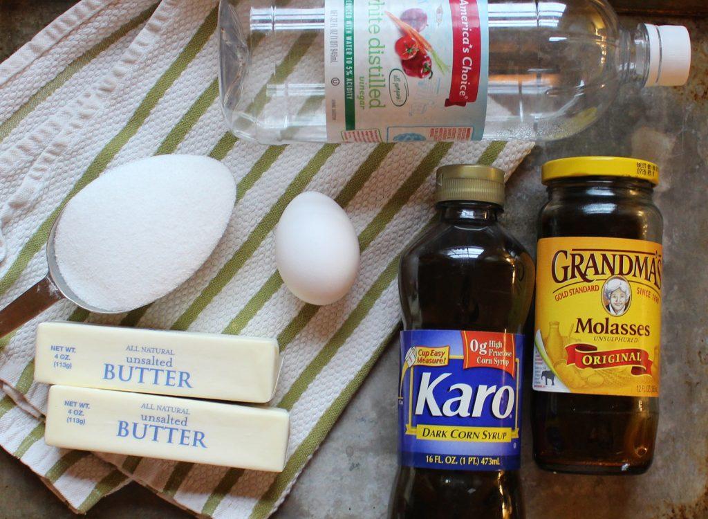 Lazy Girl Gingerbread Cookies - wet ingredients