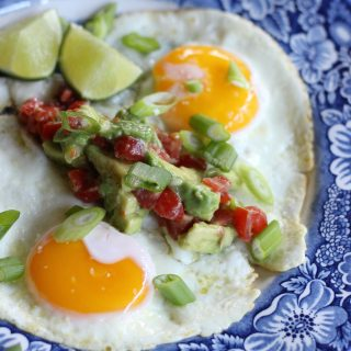 Huevos Rancheros with Avocado Salsa
