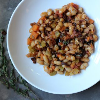 Stewed Great Northern Beans