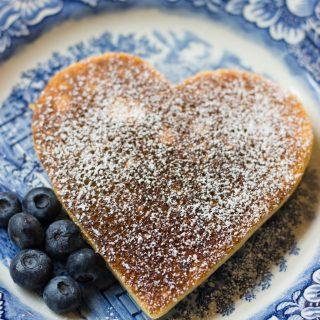 Soufflé Heart Pancakes