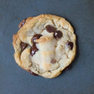 Almost Vegan Chocolate Chip Cookies