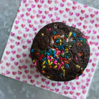 Vegan Chocolate Sprinkle Cupcakes