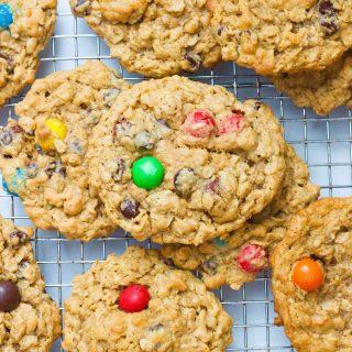 Salted Caramel Monster Cookies