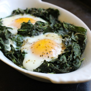 Baked Eggs with Kale