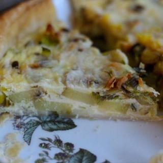 Rustic Leftover Leek and Potato Quiche