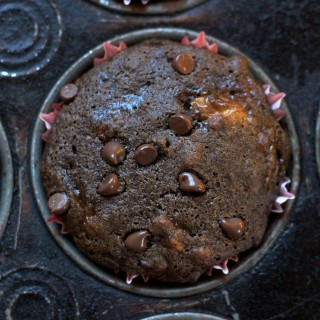 Vegan Chocolate Banana Nut Muffins