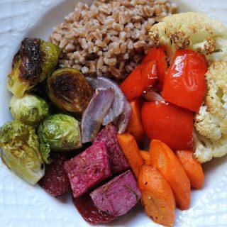 Roasted Vegetable + Farro Grain Bowls