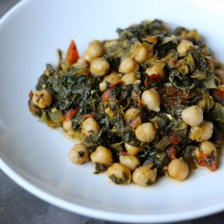Vegan Chickpea + Spinach Curry