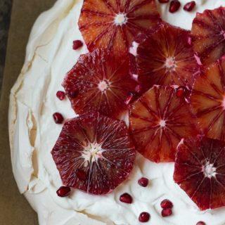 Winter Fruit Pavlova Slab