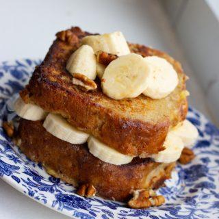 Bourbon Banana Bread French Toast