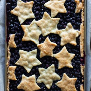 Lemon Bourbon Blueberry Slab Pie